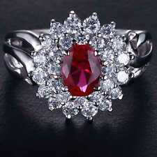 Handmade Natural 2.0ct Ruby  Size US 7 14K White Gold Ring  GKOY09SD