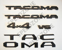 10PCS 2016-2018 Toyota Tacoma Tag MATTE Black Door Emblem Decal Badge Nameplate