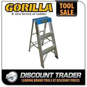 Gorilla 0.9m 120kg Industrial Single Sided Aluminium Step Ladder - M003-C