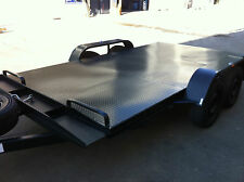 Car Trailer brand new Tandem axle 12X6.6FT 2TATM WITH BRAND NEW WHEEL AND TYRE