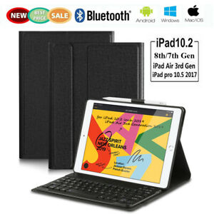 Smart Case with Bluetooth Keyboard Cover For iPad 7th Gen 2019/Pro 2017/Air 3