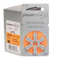 PowerOne Hearing Aid Batteries PR48, p13, SIZE 13 (60 Batteries)