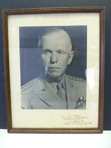 General George C Marshall Signed Photo Autograph Framed MARSHALL PLAN