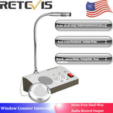 Dual-Way Window Counter Intercom Interphone Speaker System Store/Office/Hospital