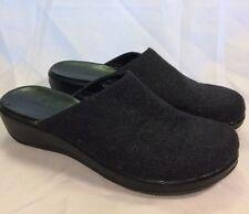 CLARKS Women's Black Fabric Slip On Clog Mules Shoes Size 10m Medium 71144