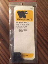 Weaver Top Mount Base #72 - Browning - New Old Stock