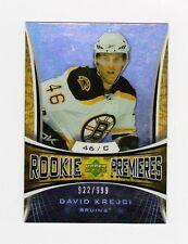 2007-08 Upper Deck Trilogy #128 David Krejci RC Rookie Card