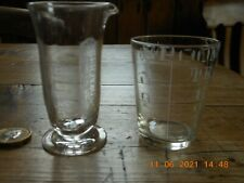 Antique Conical Glass Measures x2  Georgian & Victorian