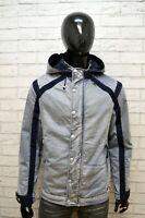 Giubbotto ARMANI Uomo Taglia Size L Giubbino Jacket Man Giacca Cotone Blu Jacke