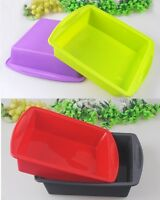 2x Big Soap Mold Silicone Cake Chocolate Bar Loaf Candle Food Mould Craft Tool