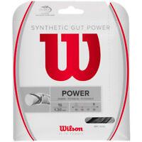 Wilson - WRZ945200 - Synthetic Gut Power 16 Tennis Raquet String - Black
