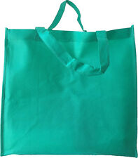 Set of 20- EXTRA LARGE KELLY GREEN SHOPPING GROCERY REUSABLE NON WOVEN TOTE BAG