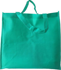 Set of 12- EXTRA LARGE KELLY GREEN GROCERY SHOPPING REUSABLE NON WOVEN TOTE BAG