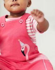 Joules Baby Girls Misha Applique Dungaree Set - Pink Flamingo