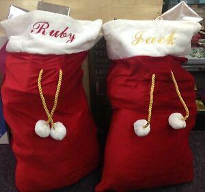 Personalised Luxury Embroidered Christmas Santa Sack. Jumbo Size