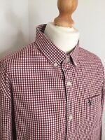 Original Penguin Shirt Large 44 Inch Chest Red Check Gingham Top Munsingwear