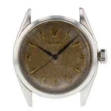 Vintage Rolex Oyster Precision Steel Manual 32 mm Head Only Watch 6480