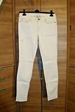 Women's TRUE RELIGION SHANNON  white stretch jeans size 31 great cond LOVELY