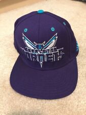 VINTAGE CHARLOTTE HORNETS ADIDAS SNAP BACK BUZZ CITY PURPLE NBA BASKETBALL