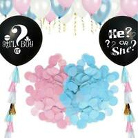 36'' Black Balloon Blue Pink Confetti Girl or Boy Gender Reveal Party Decoration