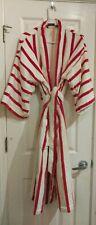 Nordstrom Vintage women's full-length Christmas Red & White bathrobe one size