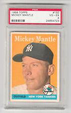 1958 Topps Baseball #150 Mickey Mantle NY Yankees PSA 4!