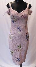 Karen Miller Womens Cold Shoulder Floral Dress HD3 Pink/Multi Size US:2 NWT $525