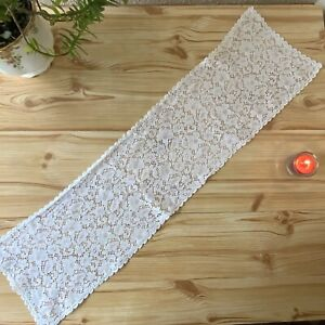 Pretty Vintage White Table Runner Lace Cloth Table Decor 20x80cm Shabby Chic