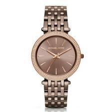Michael Kors Darci MK3416 Women Reloj Brown Analog Stainless Steel Nuevo