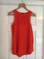 River Island Orange Red Sleeveless Top Size 8