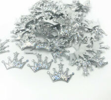 100X Shiny Applique Crown shape Fit Fabric Patch diy craft Decoration 24mm