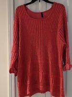 Massini Brand plus Sz 2x magenta/pink long Sleeve sweater Women's