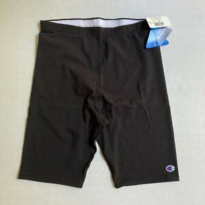 NEW Champion Powerliner Double Dry Black Long Compression Shorts Women's 2XL NWT