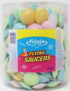 Frisia Sherbet Flying Saucers 300 Per Tub Retro Sweets UFOs