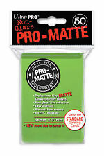 Pack 50 Ultra Pro LIME GREEN Pro-Matte MTG CCG Pokemon Gaming Card Sleeves