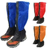 1 Pair Outdoor Hiking Boot Gaiters Waterproof Snow Leg Legging Climbing Cover