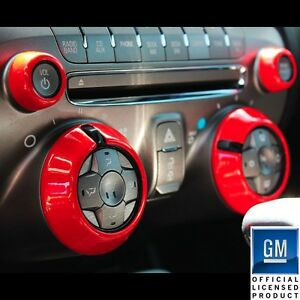 2010-2014 Chevrolet Camaro Billet AC Knob Covers Orange