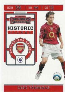 2019-20 Panini Chronicles Contenders Soccer Historic Ticket Set Base Common