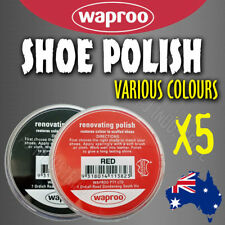 WAPROO SHOE POLISH CREAM (5 Pack) RESTORE COLOUR TO SCUFFED LEATHER SHOES BOOTS