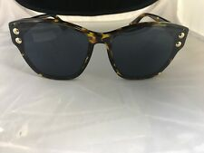 8b4a8f5b25 New Christian Dior Addict Brown Yellow Havana Sunglasses 3 P65 A9