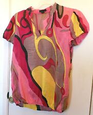 Twentyone. Mixed colors print  short sleeve light weight pullover top size M