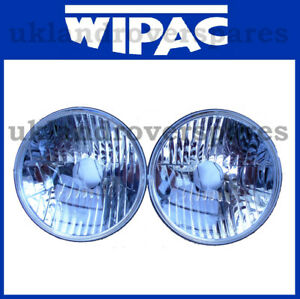 7 INCH CRYSTAL CLEAR HEADLIGHTS (PAIR) WIPAC WITH PILOT FREEFORM S6072