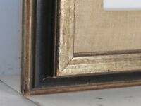 VINTAGE DISTRESSED GILDED / BLACK  FRAME FOR PAINTING 20 X 16 INCH