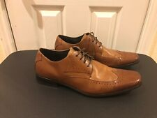 Stacy Adams Atticus Wingtip Oxfords Dress Shoes Leather Brown 24840 229 Size 14