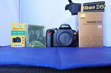 Nikon D D60 10.2MP w/18-55mm GII lens with box. GOLD edition. Works great.