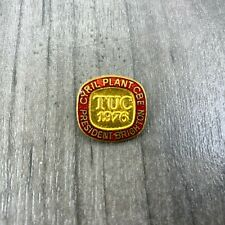 TUC Trade Union 1976 Brighton Cyril Plant Cbe President Enamel Pin Badge Rare