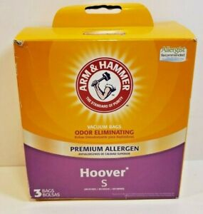 ARM AND HAMMER Hoover S   PREMIUM ALLERGEN FILTRATION BAGS FREE SHIP E2