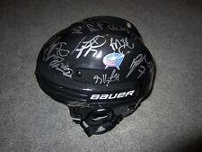 COLUMBUS BLUE JACKETS 2016-17 Team SIGNED Autograph Helmet COA Bobrovsky Saad +
