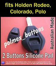 fits Holden Rodeo, Colorado remote key - Silicone Button Repair Pad