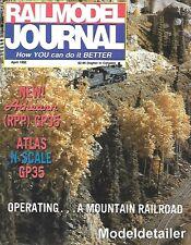 Railmodel Journal Apr.92 Maersk EMD GP60 Conrail Rio Grande C&O F3-A F3-B KCS